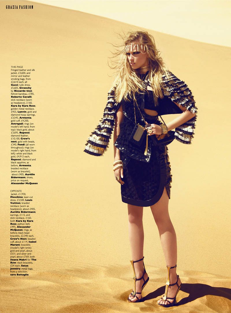 Nomad Royalty   Marcelina Sowa   Kevin Sinclair #photography   Grazia UK June 2012
