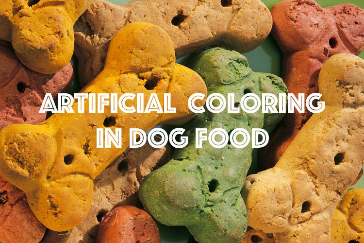 Are artificial colors dangerous for dogs dogfood