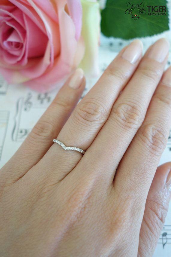 1 10 Carat Chevron Ring 15 Stone Wedding Band By Tigergemstones