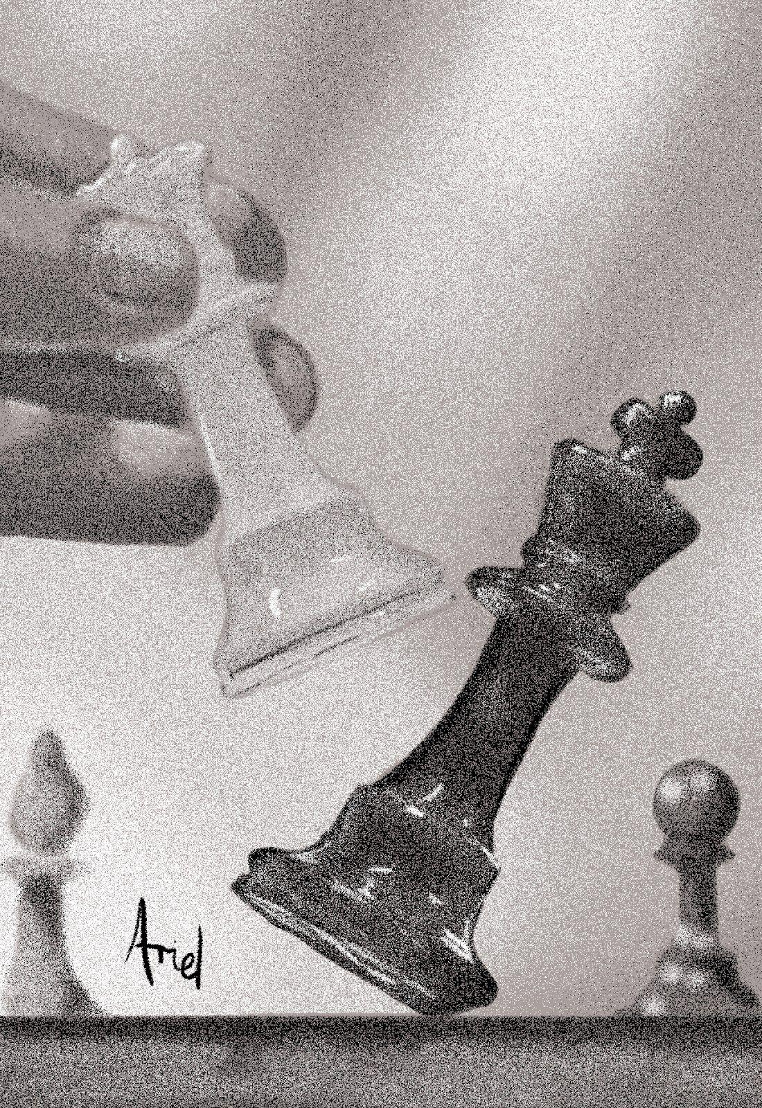 Mis Dibujos Dibujo a Puntillismo   ajedrez  Pinterest
