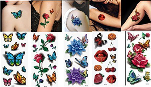 Bestmall5 Sheets 3d Waist Arm Leg Belly Temporary Tattoo Tatoo Waterproof Sticker Body Art Be Sure To Check Out Th Tattoo Kits Tattoos Waterproof Stickers