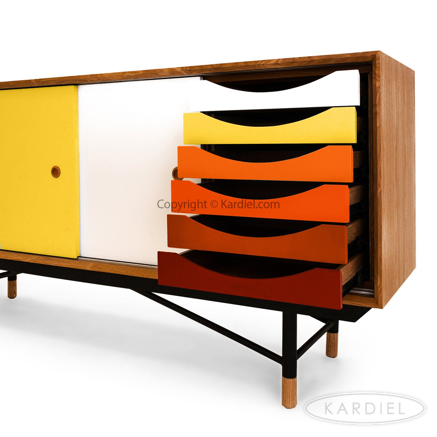 1955 Color Theory Mid-century Modern Sideboard Credenza, Natural ...