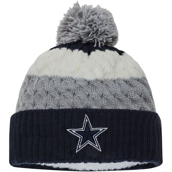 b6e6e4a0 Dallas Cowboys New Era Women's Layered Up Cuffed Knit Hat with Pom ...