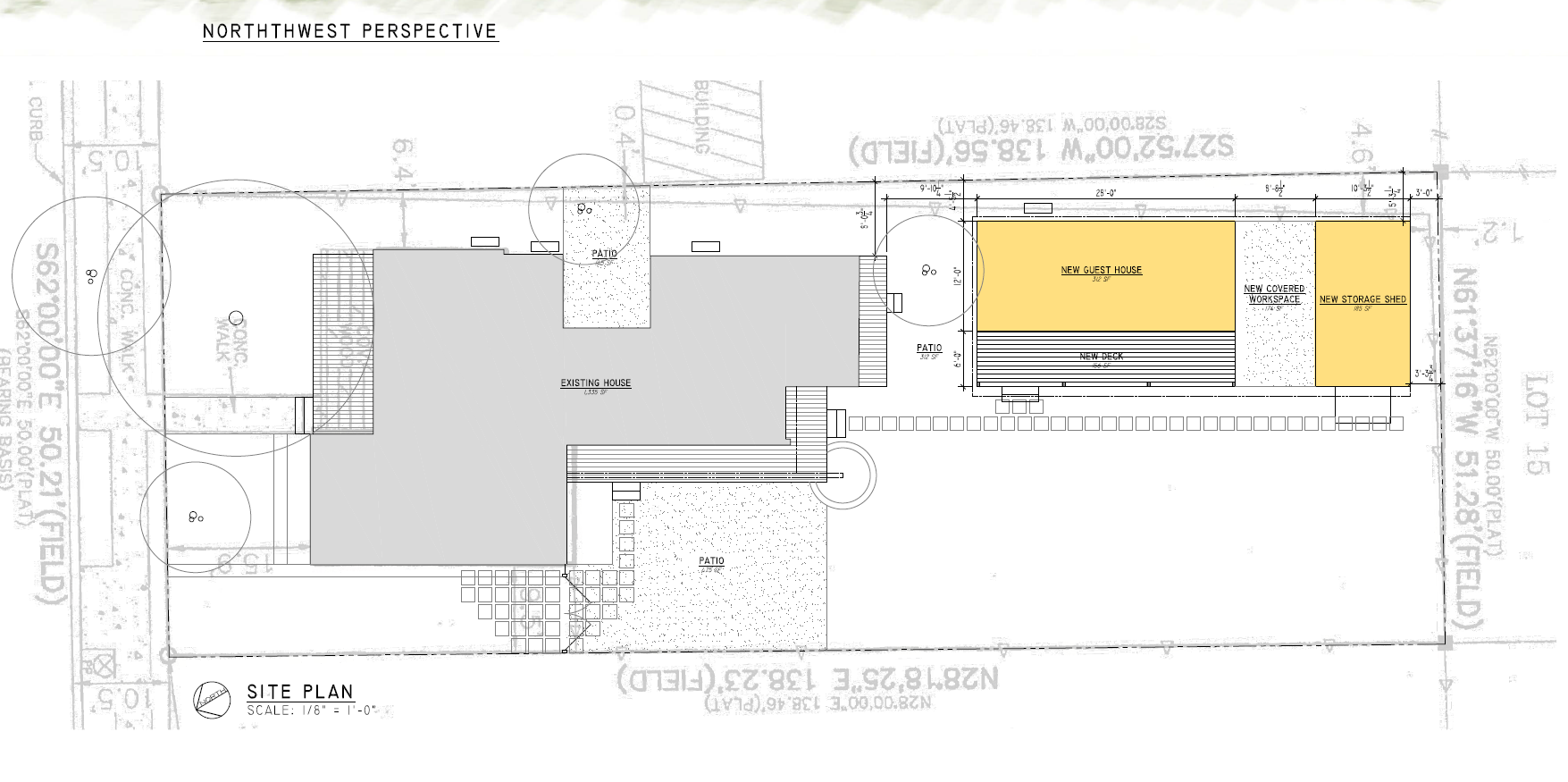 Site Plan Rear Structure When Constructing New Buildings New Construction Additions Rear Accessory Structu Design Guidelines Design Resources Site Plans