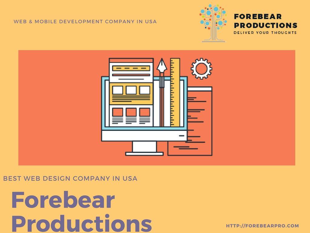 Forebear Productions leading Web app, Mobile app,