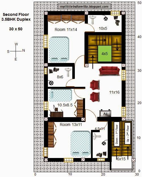 Best Site To Find An Apartment: Dazzling Ideas 1 Duplex House Plans For 30x50 Site East