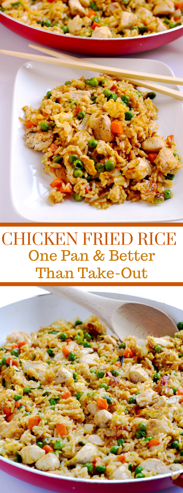 Chicken Fried Rice {better than take-out!} #dinner #weeknight images