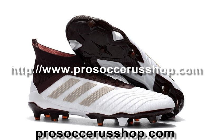sale retailer 9d4f1 3d25b Pro Soccer Cleats Adidas Predator 18.1 FG White Gold Wine Red visit us http