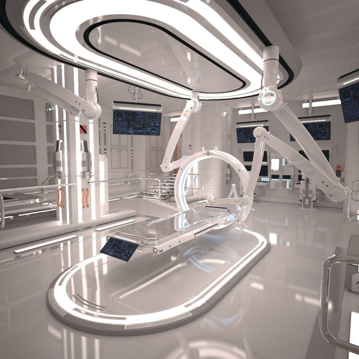 3d futuristic sci fi laboratory interior shots pinterest science fiction int rieur. Black Bedroom Furniture Sets. Home Design Ideas