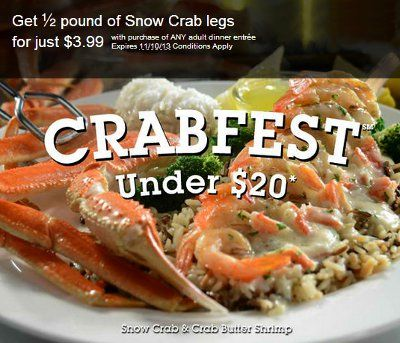 Hurry in for some of our sweetest, juiciest crab entrees. Offer valid through November 11, 2013 at the Red Lobster at the Colonial Park Mall, Harrisburg, PA.
