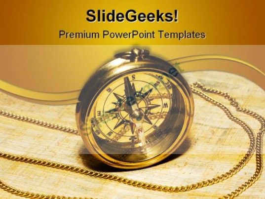 Gold Compass Science PowerPoint Template 1110 #PowerPoint - Science Powerpoint Template
