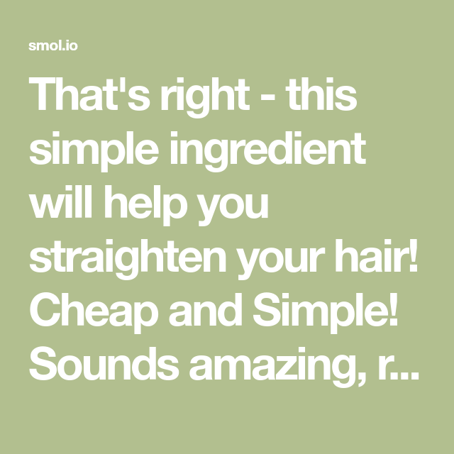 This Simple Ingredient Will Help You