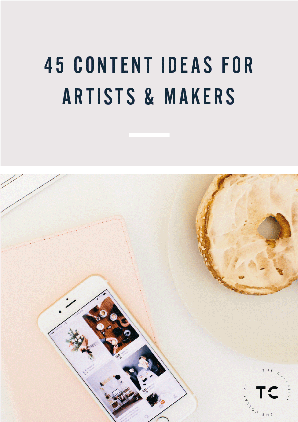 Looking for content ideas for your art or design business blog? Here are 45 content ideas for artists and makers - The Collative