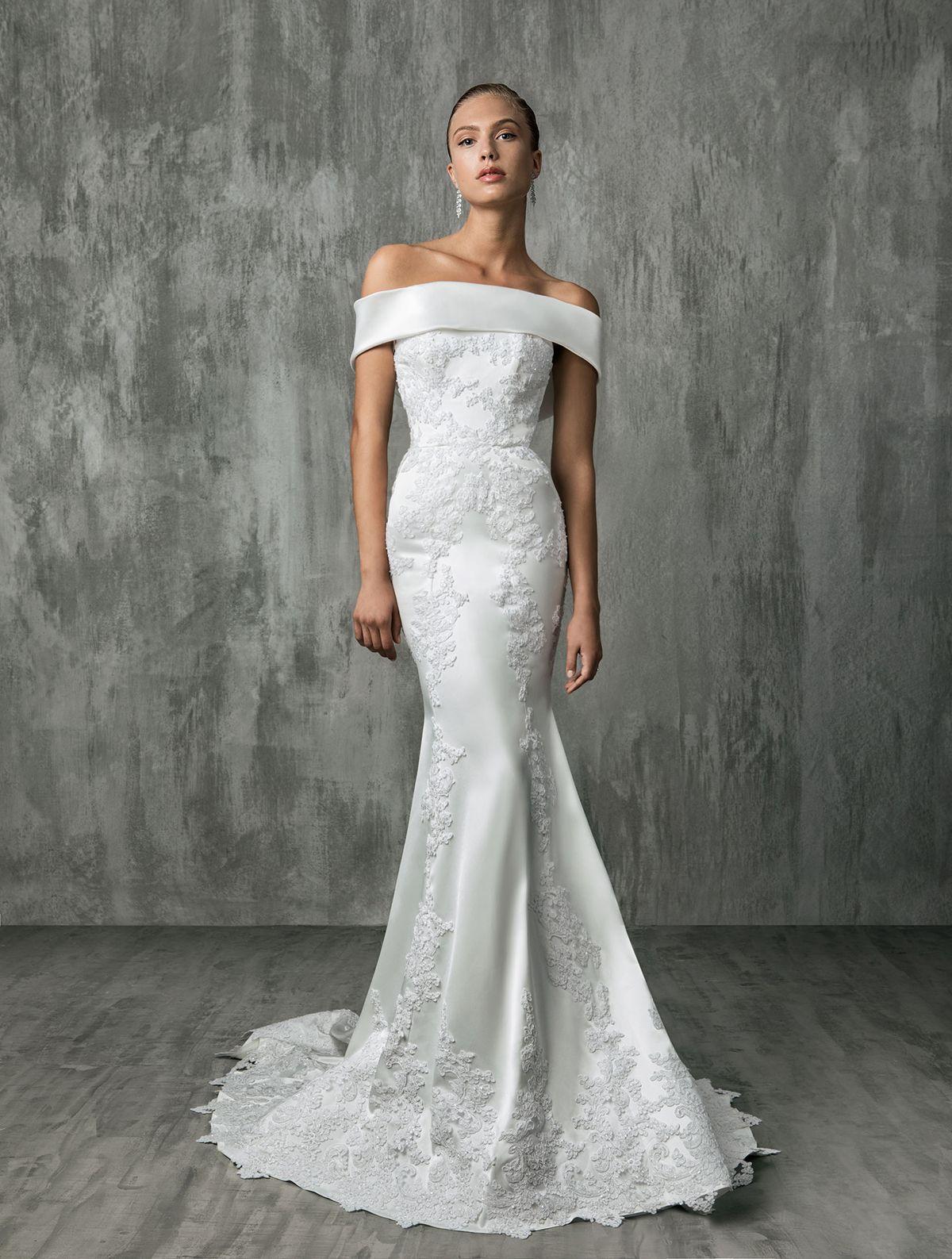 Off The Shoulder Dress Inspiration For The Stylish Bride Queensland Brides Wedding Dresses Bridal Dresses Wedding Dress Trends