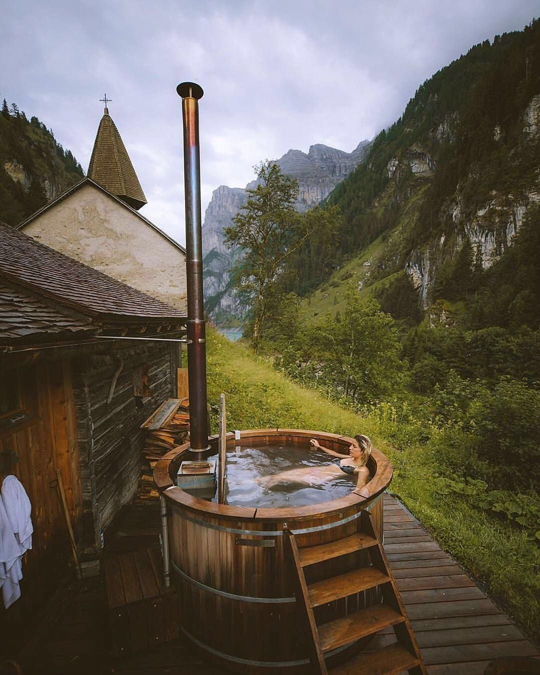 Home Outdoor S Life On Twitter In 2021 Outdoor Tub Ecological House Cabin Life