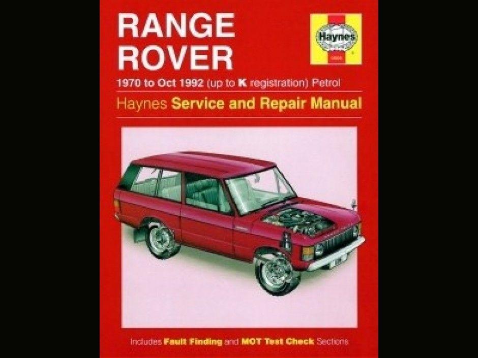 Range Rover Service Repair Manual 1970 Manual Guide