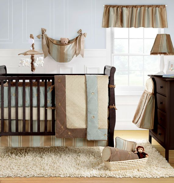 Brown And Blue Baby Bedding Set Boys Crib Bedding Sets Baby Crib Bedding Cribs
