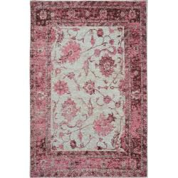 Photo of benuta flat weave carpet Frencie purple 100×160 cm – vintage carpet in used look benuta