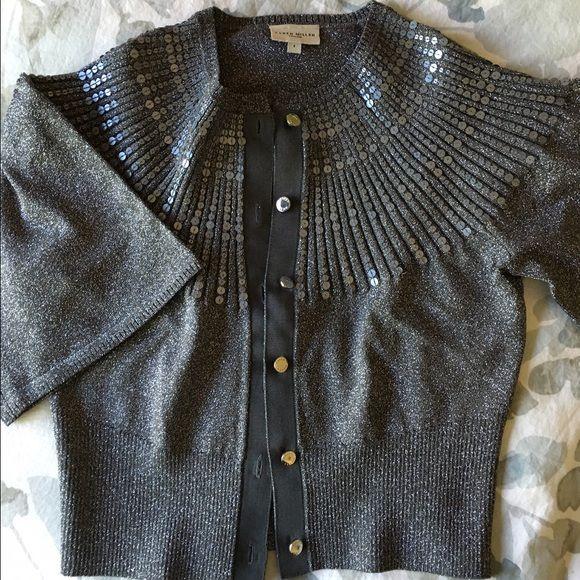 Karen Millen sparkly silver cardigan sweater. NWOT | Karen millen ...