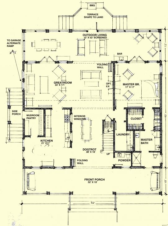 Dog Trot House Plans