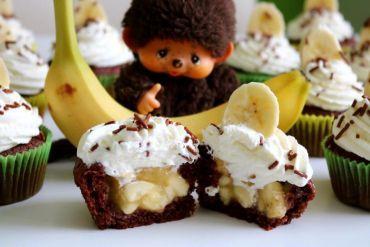 Schoko-Bananen-Cupcakes #chocolatecupcakes