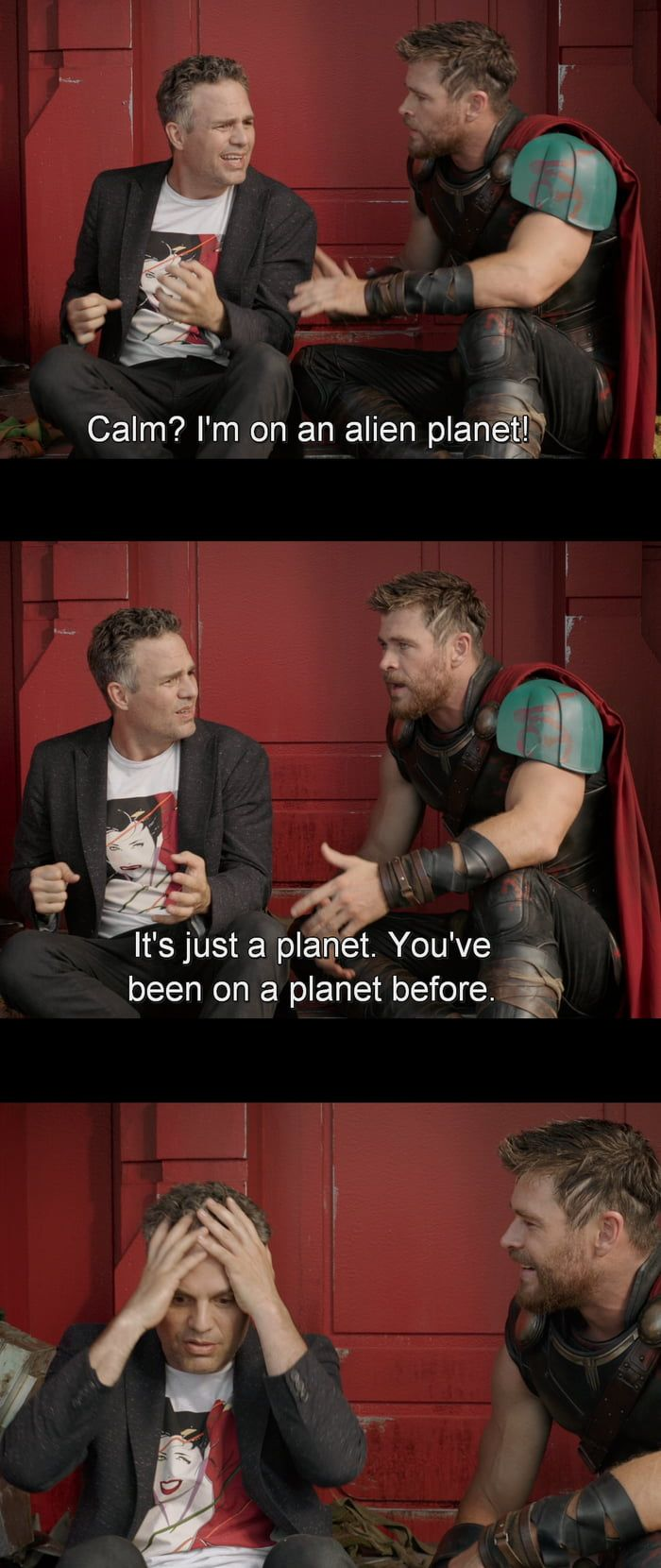 Thor Ragnarok One of the infinite jokes/quotes. One of my