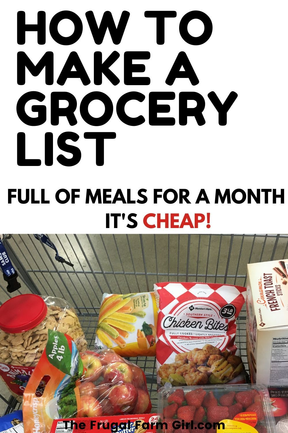 How to meal plan grocery shop once a month meal