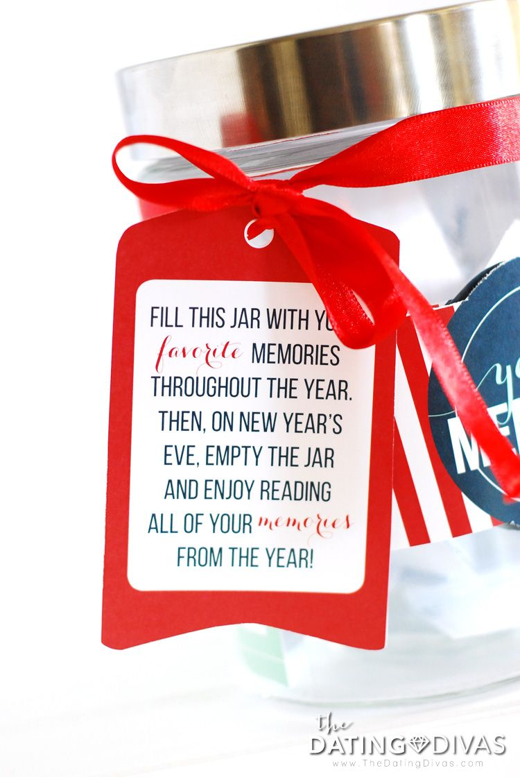 printable gift tag for year of memories jar fun new years eve family or couple tradition