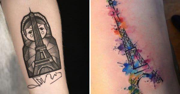 12 Romantic Eiffel Tower Tattoos Eiffel Tower Tattoo Tattoos
