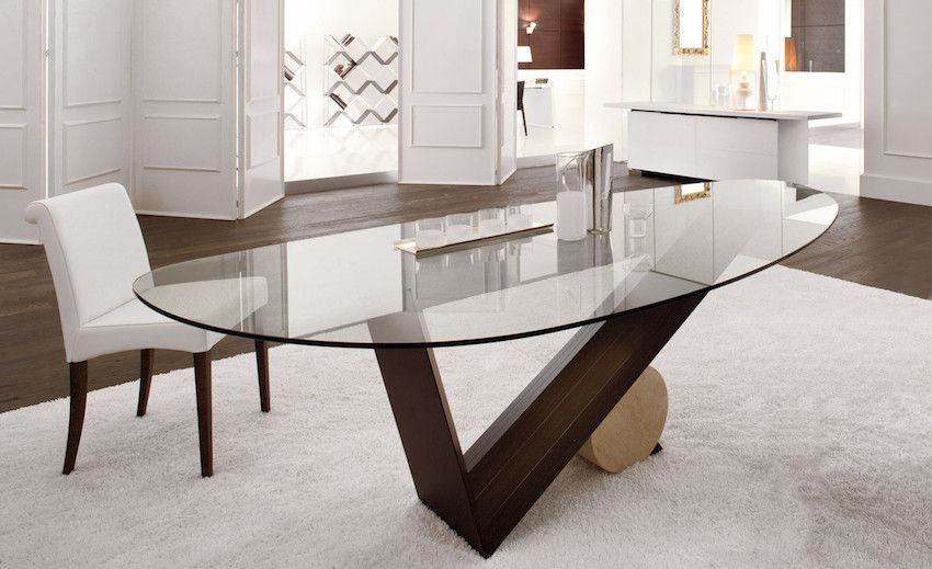 10 Marvelous Modern Glass Dining Tables To Inspire You Today Modern Dining Tables Glass Dining Table Modern Glass Dining Table Oval Glass Dining Table
