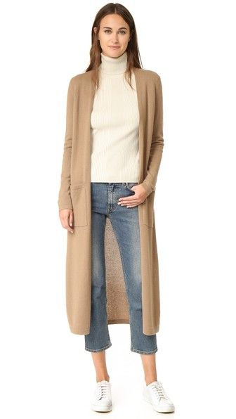 Torina Long Cashmere Cardigan | Cashmere, Sweater skirt and Activewear
