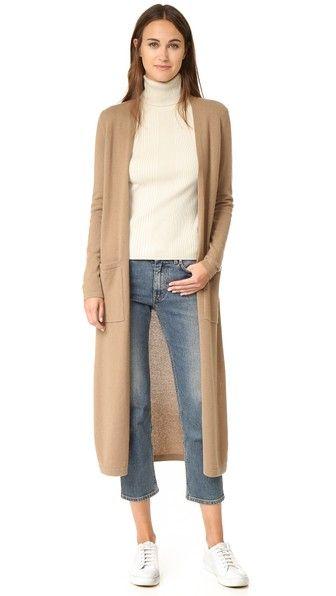 Torina Long Cashmere Cardigan | Cashmere, Sweater skirt and Activewear