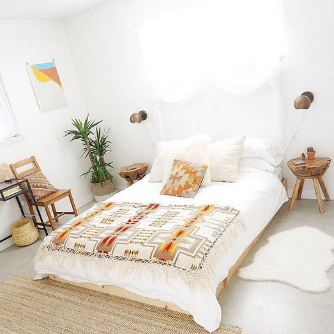 Best White Minimalist Boho Bedroom Bedroom Vintage Bedroom 400 x 300