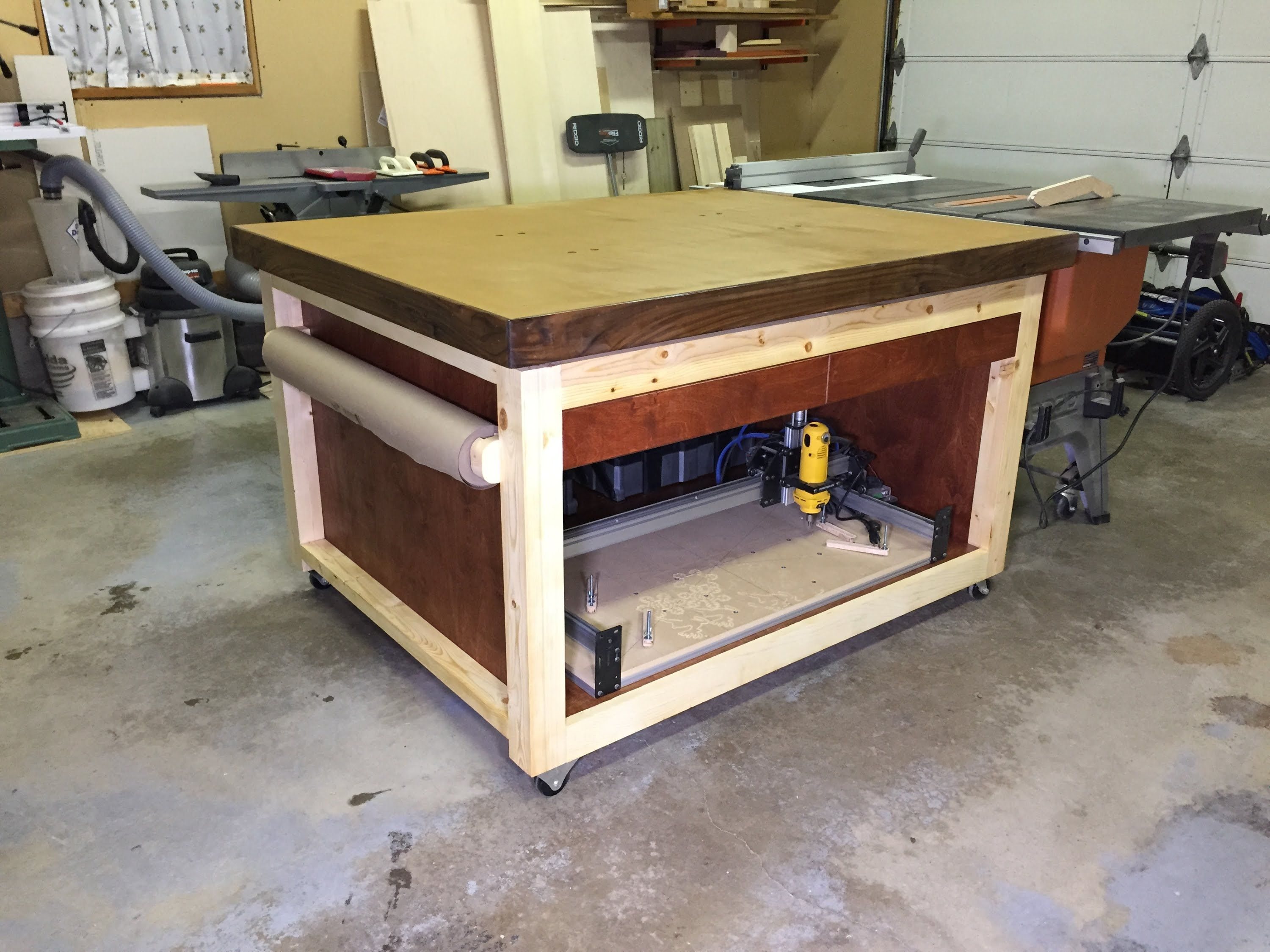 Here Is A Look At My Newly Built Outfeed Assembly Table