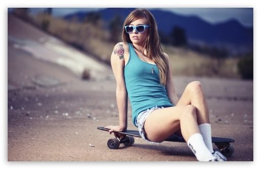 Skateboard Girl   Daily iPhone 6/5/4 Wallpapers   Pinterest   Adorable Wallpapers   Pinterest   Skater girls, Girl wallpaper and Wallpaper