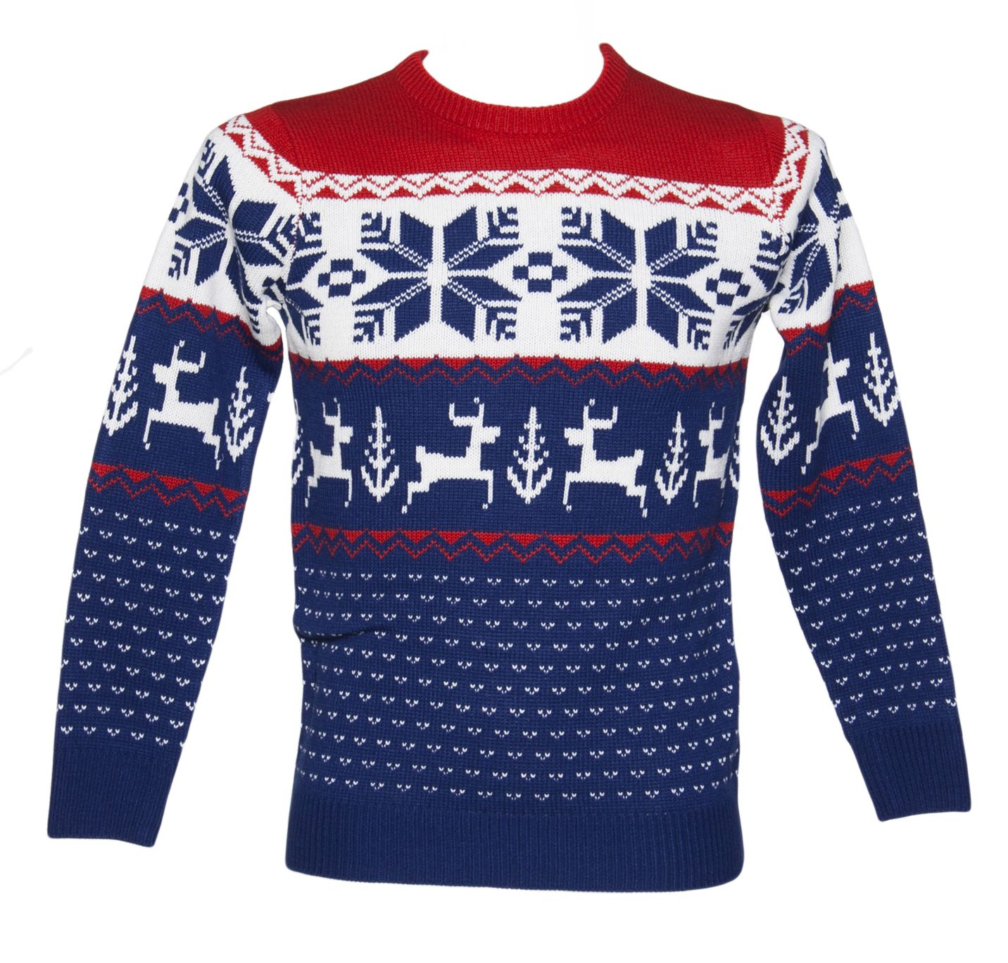 Christmas time · Unisex Blue and Red Wonderland Knitted Christmas Jumper