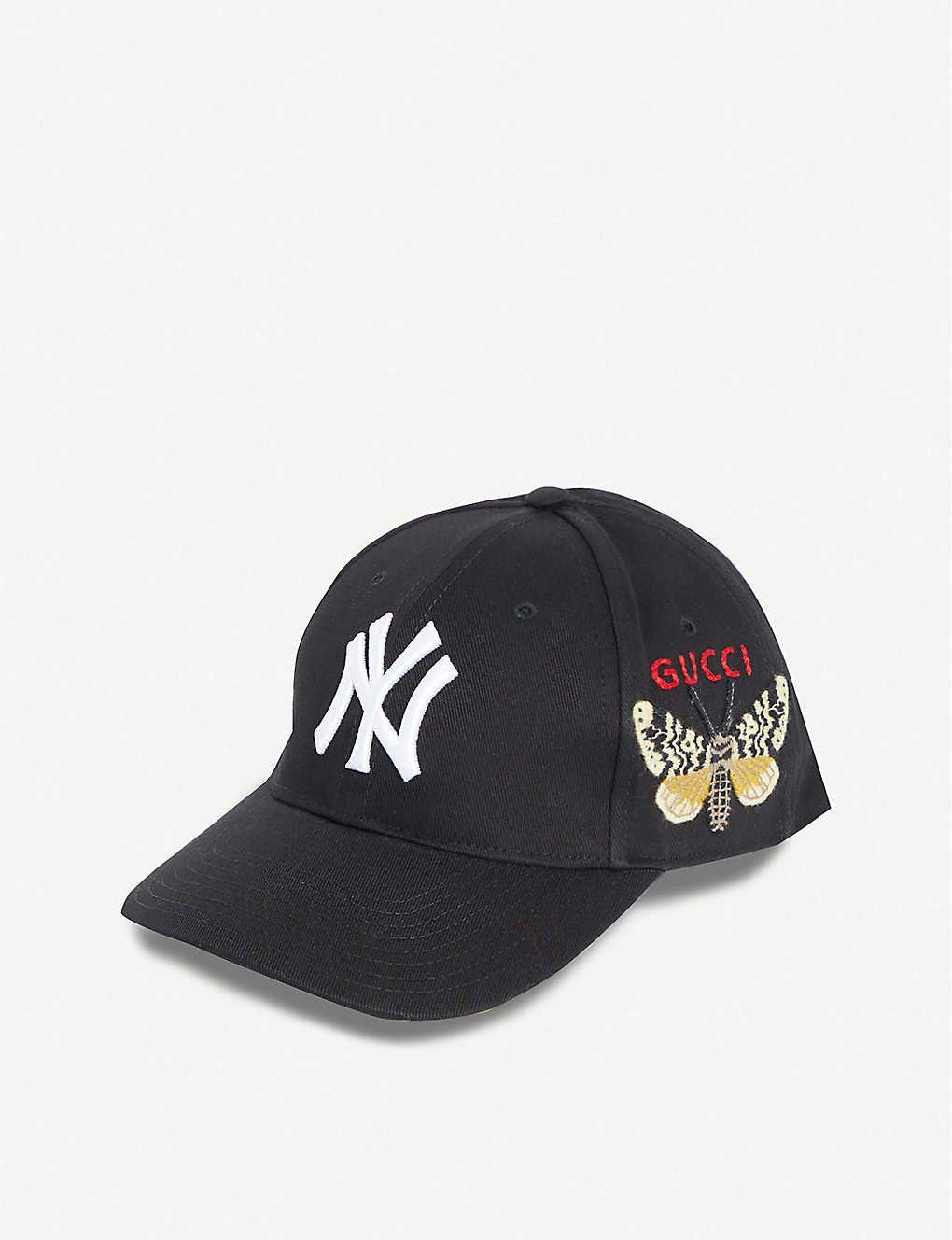 New York Yankees Patch Canvas Baseball Cap Gucci New York Gucci Gucci Hat