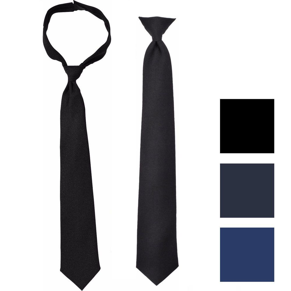 Solid Pre-Tied Necktie Breakaway Safety Pullaway Uniform Police Security  Guard  ArmyUniverse  Tie bb0c339c5a9