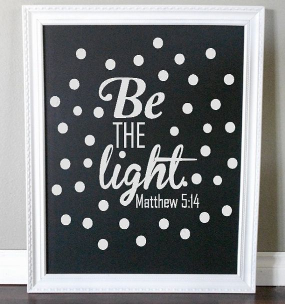 Be The Light Matthew Custom Vinyl Wall By WelcomingWalls - Custom vinyl record decals