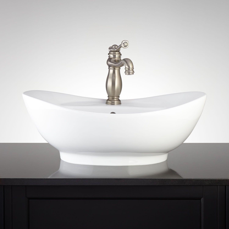 Venida Oval Porcelain Vessel Sink