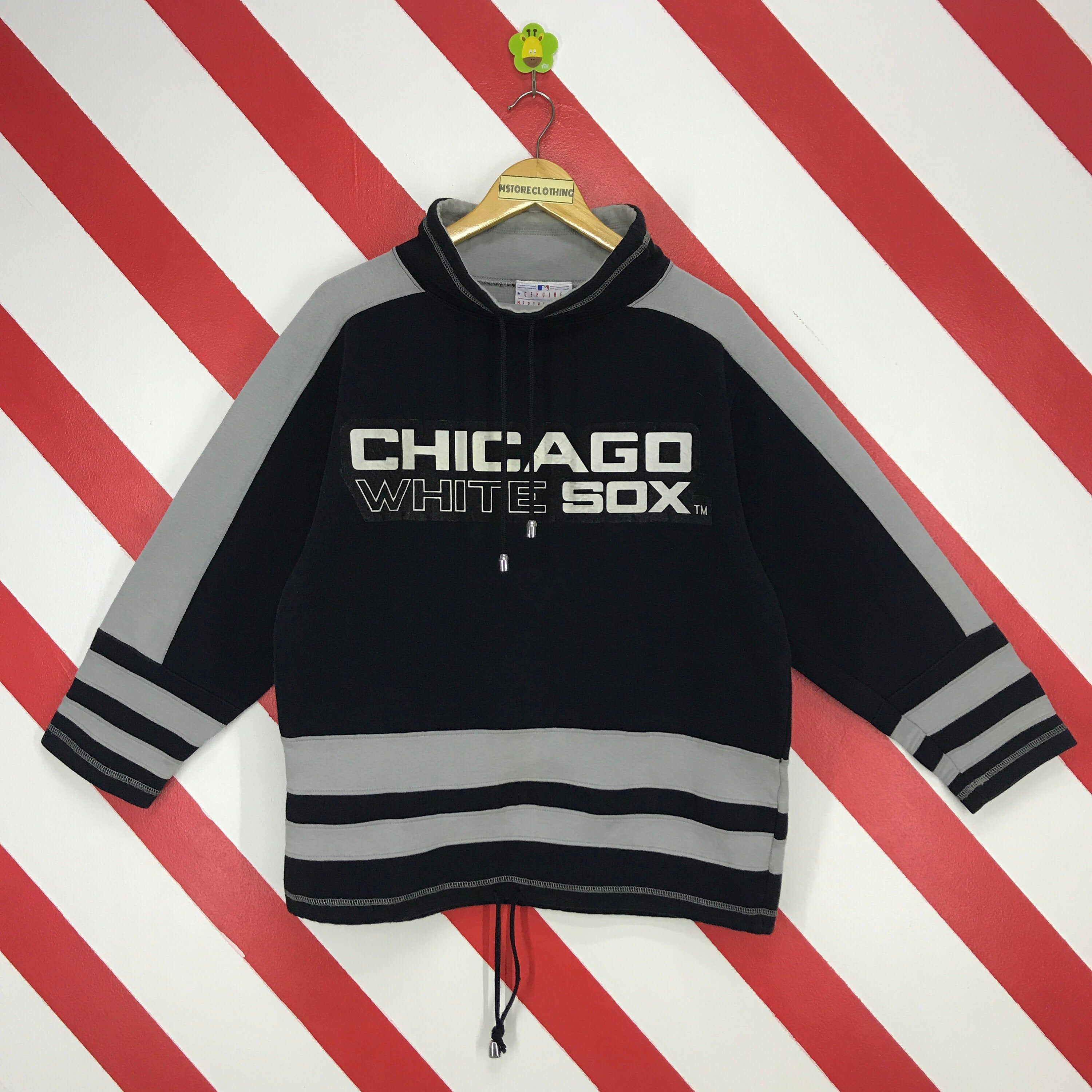 Excited to share this item from my #etsy shop: Vintage Chicago White Sox Sweatshirt White Sox Crewneck MLB White Sox Sweater Pullover Sportswear White Sox Print Logo Black Size Medium #clothing #men #pullover #athletic #chicagowhitesox #whitesox #mlb