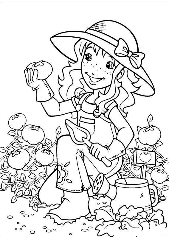 kleuterclowntje heeft een tuintje kleurboek