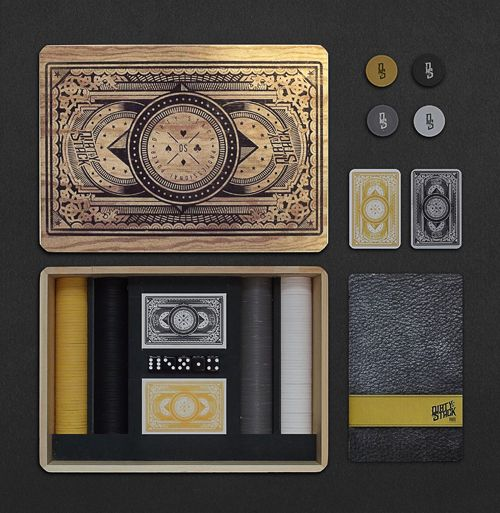 Dirty Stack Poker Set by Nick Bartels, via Behance