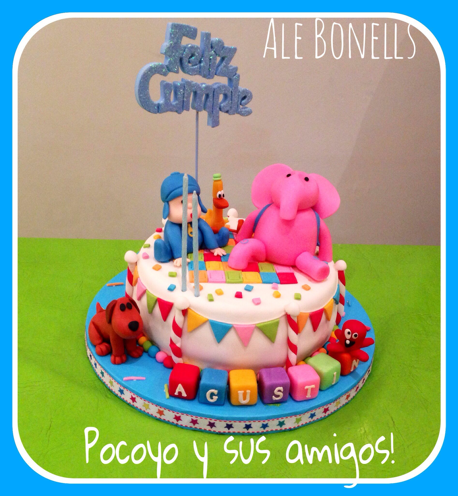 Torta Pocoyo Y Sus Amigos      Pocoyo And Friends      Birthday Cake