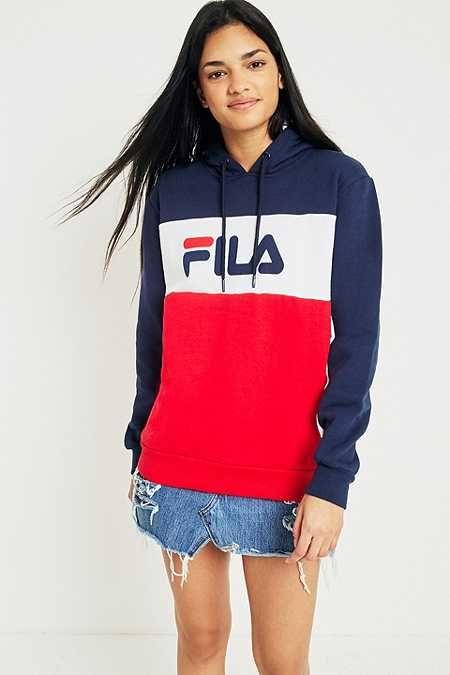 fila cara colour block logo hoodie wish list pinterest tenues bijou et mode. Black Bedroom Furniture Sets. Home Design Ideas