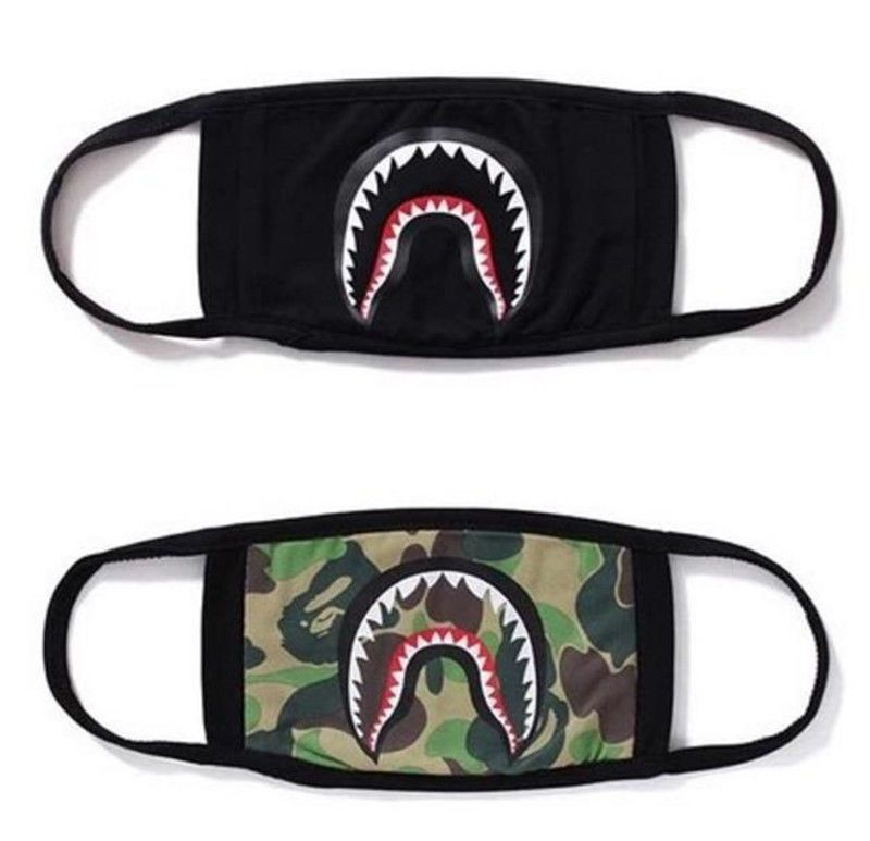 ee0fc6b0abd New Quality Product Bape A Bathing Ape Shark Camo Mask Black Cosplay Mouth  Masks #Unbranded #MouthMask