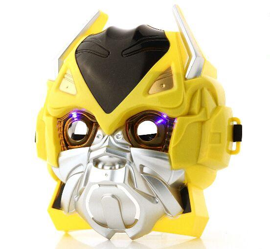 Crianças transformação filme Bumblebee máscaras máscaras estilo carnaval Halloween máscara máscara