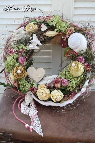 """Photo of Door wreaths – :::: Table or door wreath """"Rosenliebe"""" :::: – a designer piece …"""
