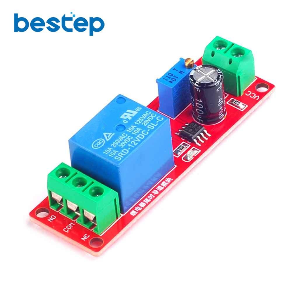 1pcs Dc 12v Delay Timer Switch Adjustable Relay Module 0 To 10 Turn On Off Second Promotion