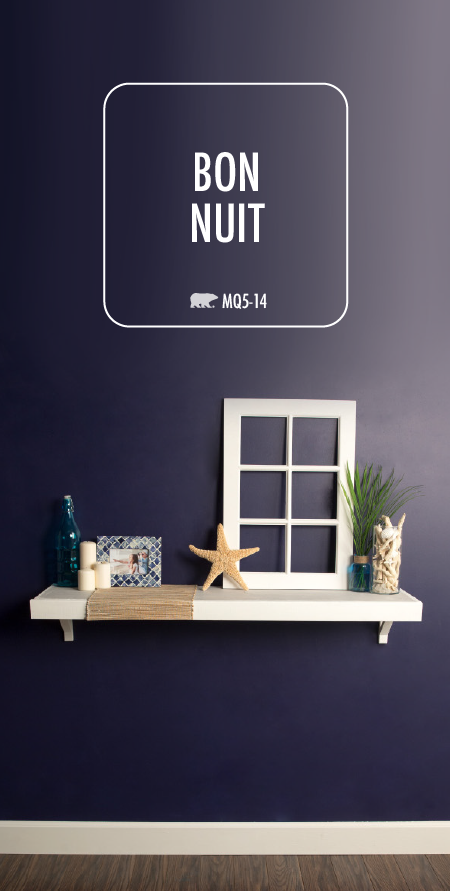 Attirant Make A Bold Statement In The Interior Design Of Your Home With The Deep  Navy Hue Of Bon Nuit By BEHR Paint. This Dark Interior Paint Color Looks  Great When ...